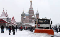 Red Square after a snowfall