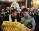 Patriarch servicing in honour of St. Vladimir the Great in Moscow's Church of Christ the Saviour
