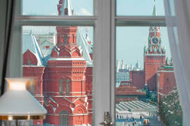 View from a room. Natsional Hotel Moscow.