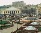 Views of the Manezhnaya Square (glass domes are part of Okhotny Ryad, an underground shopping mall