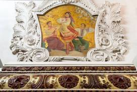 Kiyevskaya Metro Station. Dance. Fresco