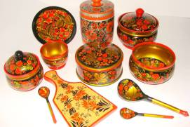 Khokhloma. Souvenir from Moscow. shutterstock