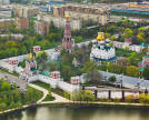 Aerial view of the Novodevichy Convent