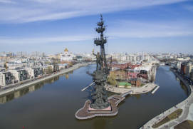 The monument to Peter the Great in Moscow