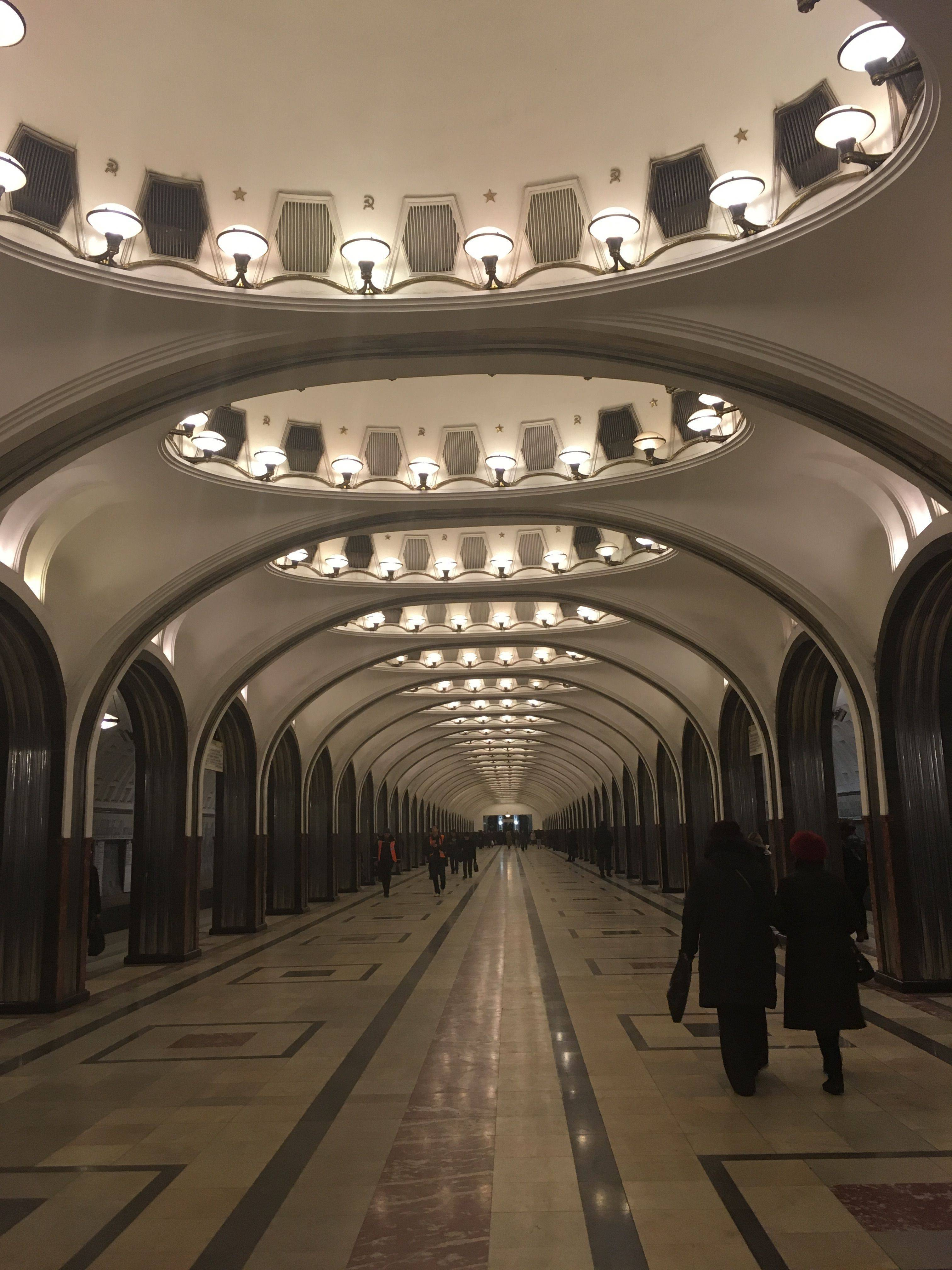 Moscow Metro History and Architecture Sights of Russia 2019