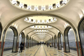 Mayakovskaya Metro Station. Photo: Shutterstock.com