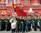 Chinese military attending the Victory Day Parade on Red Square