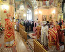Intercession Convent. Patriarchal service in honour of Matrona's canonization