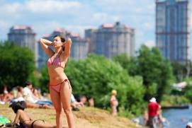 There are bathing areas in Moscow in summer. Shutterstock.com.