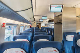 A car of Sapsan high-speed train. shutterstock.com