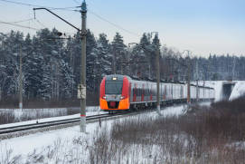 A train passing through Fryazevo station. Photo rzd