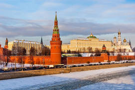 MOSCOW KREMLIN WALLS AND TOWERS
