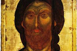 Christ of the Fiery Eye, a 14th-century icon in the Assumption Cathedral