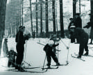 Skiing in Sokolniki Park in Soviet times
