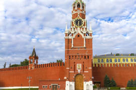 The Spasskaya Tower of the Kremlin. shutterstock.com