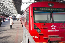 Aeroexpress trains start from railway stations