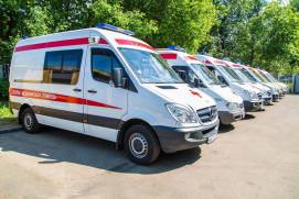 Ambulance vehicles in Moscow