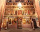 Iconostatis, Holy door and thin candles