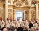 Danilov Monastery. Liturgy in the Trinity Cathedral