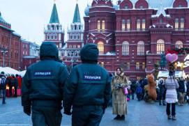 Policemen at Red Square. Shutterstock.com