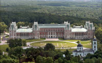 General view of the palace in Tsaritsyno