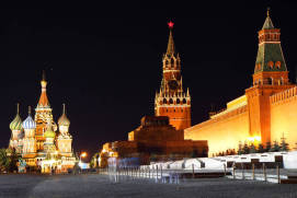 Red Square at night. shutterstock.com