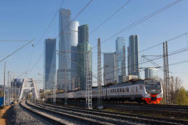 Trains in Moscow. Photo rzd