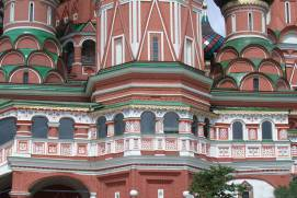View of the exterior gallery of Saint Basil's Cathedral