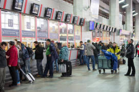 Ticket offices at Kursky railway station. Photo rzd