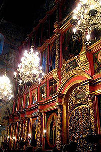 Cathedral of the Archangel. The iconostasis