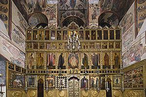 The iconostasis of the Annunciation Cathedral