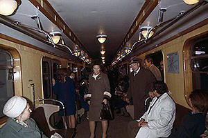 Queen Beatrix in the wagon of the Moscow metro