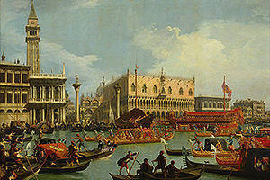 Canaletto, the return of the Bucentaur, 1727-1729, from the collection of the PUSHKIN MUSEUM of FINE ARTS