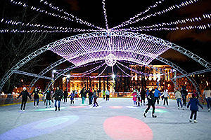 The most romantic skating rink in Moscow is in the garden Hermitage