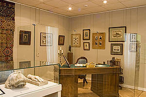 Cabinet with memorial things IS. Turgenev