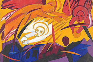 Natalia Goncharova_Angels Rushing Stones on the City