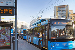 Moscow public transport trolley
