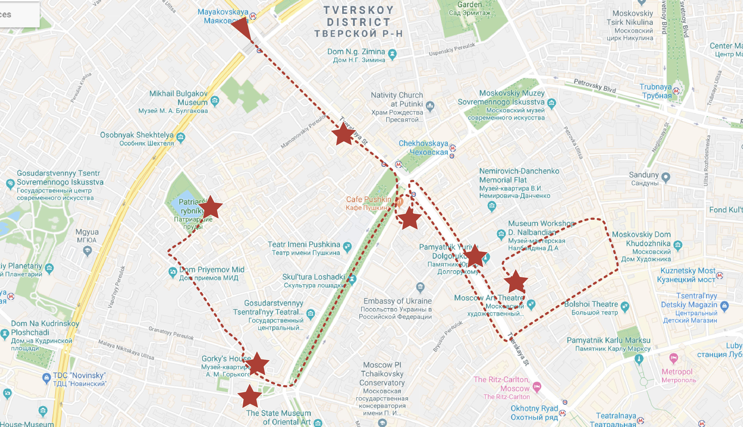 Top Moscow Attractions Map 3