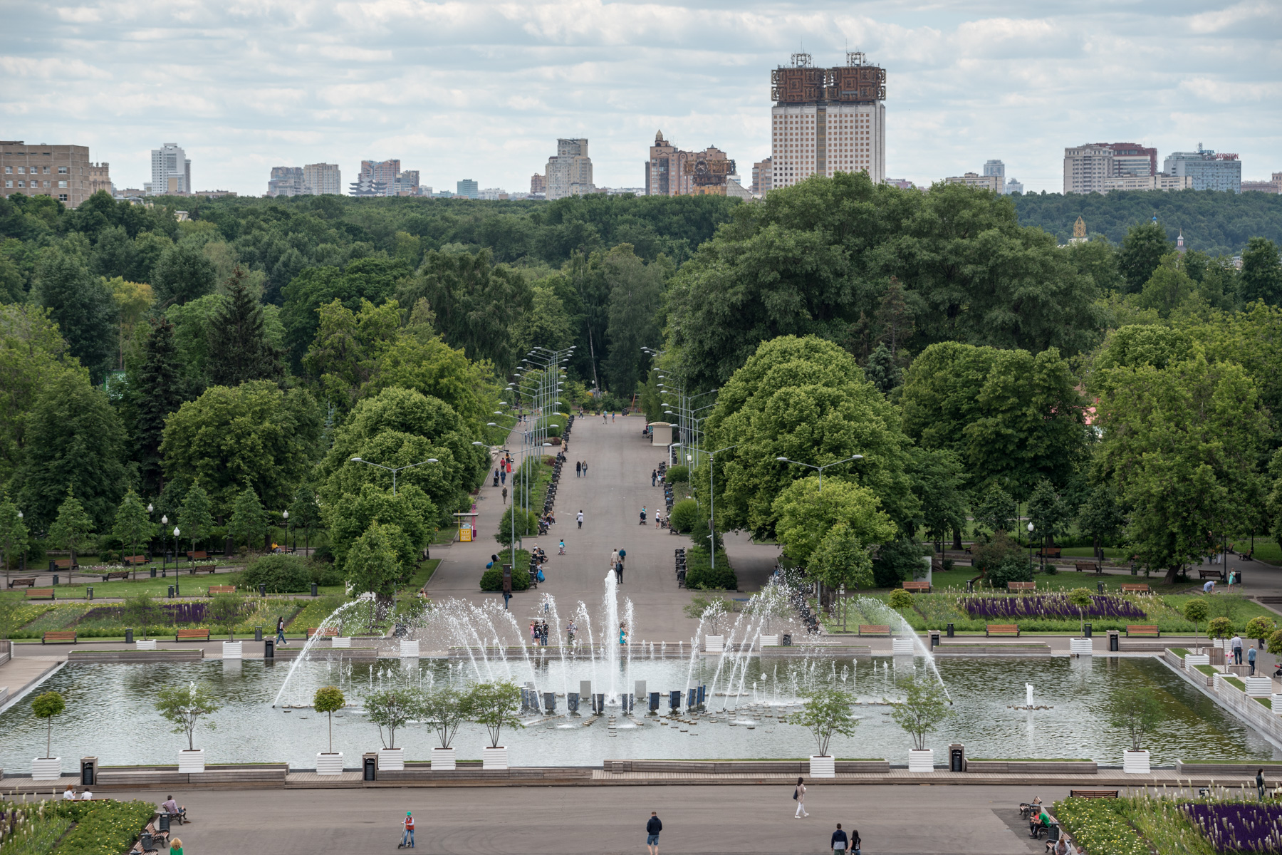 Sightseeing in Moscow Gorky Park